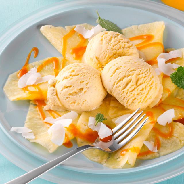 Carpaccio de ananas cu vanilie