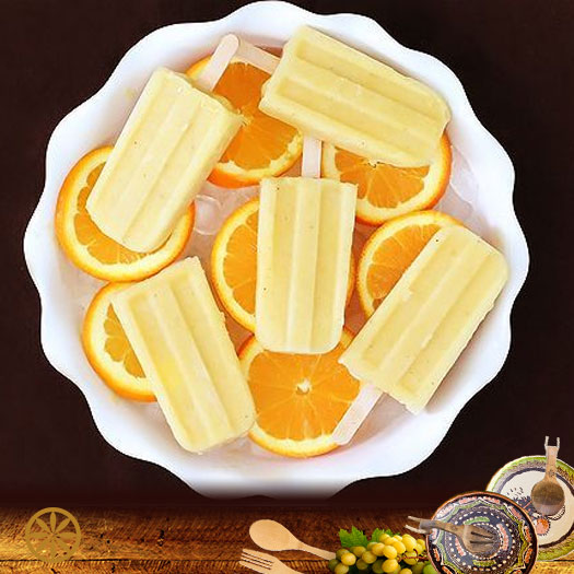 Inghetata cu banana si suc de portocale