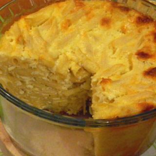 Budinca de paste cu brânza dulce