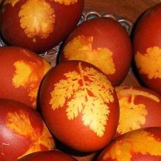 Ouă vopsite tradiţional