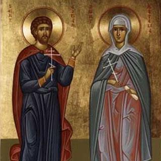 Sfântul Adrian si sotia sa Natalia
